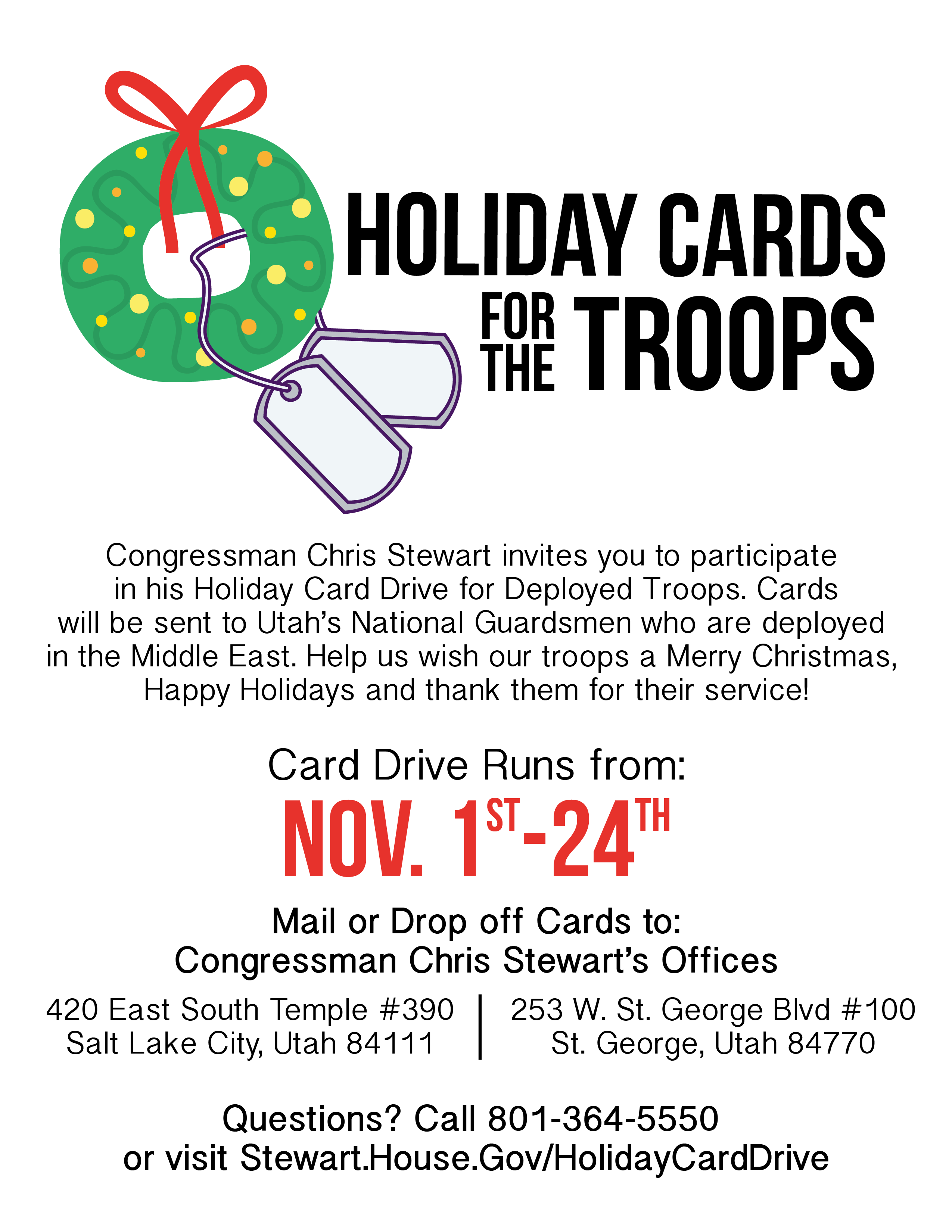 Holiday cards for the troops congressman chris stewart holiday cards for the troops kristyandbryce Image collections